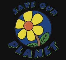 """Earth Day """"Save Our Planet"""" Kids Tee"""