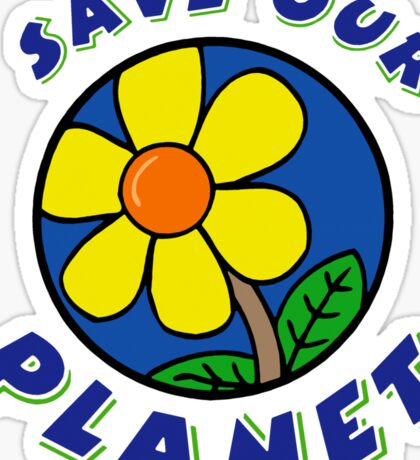 "Earth Day ""Save Our Planet"" Sticker"
