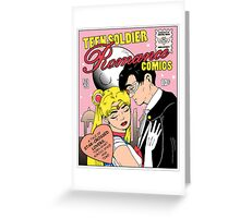 Teen Soldier Romance Comics Greeting Card