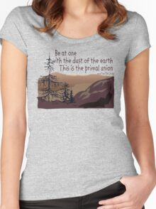"Earth Day ""Be At One With The Dust Of The Earth..."" Women's Fitted Scoop T-Shirt"