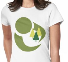 "Earth Day ""Save The Trees"" Womens Fitted T-Shirt"