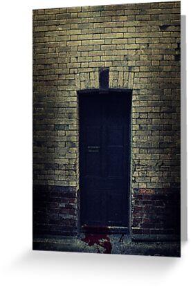 Bloody Door by Sharonroseart