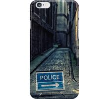 Police road closed iPhone Case/Skin