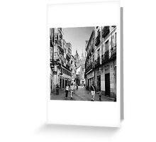 Streets of Segovia Greeting Card