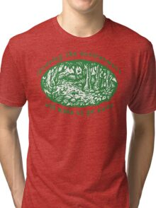 "Earth Day ""Ignoring The Environment Will Make Us Go Away"" Tri-blend T-Shirt"