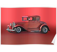 1930 Ford Model A Coupe w/o ID Poster
