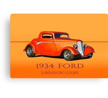 1934 Ford Coupe w/ID Canvas Print