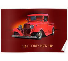 1934 Ford Pick-Up w/ID Poster