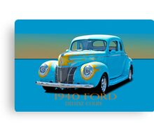 1940 Ford Deluxe Coupe w/ID Canvas Print