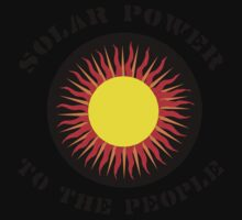 """Earth Day """"Solar Power To The People"""" Baby Tee"""