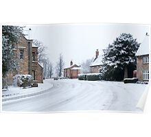 Belton, covered in Snow. Poster