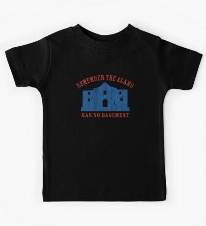 Vintage Alamo Has No Basement Kids Tee