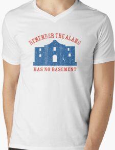 Vintage Alamo Has No Basement Mens V-Neck T-Shirt