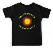 """Earth Day """"Solar Power - To The People"""" Dark Kids Tee"""