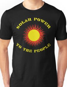 "Earth Day ""Solar Power - To The People"" Dark Unisex T-Shirt"