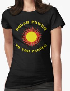 """Earth Day """"Solar Power - To The People"""" Dark Womens Fitted T-Shirt"""