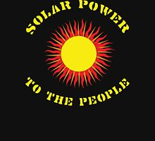 "Earth Day ""Solar Power - To The People"" Dark T-Shirt"