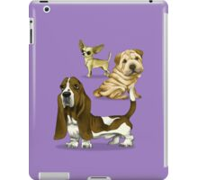 The dogs caricature 01 iPad Case/Skin