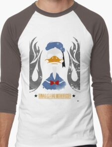 Donald Duck Bad Motherfucker Men's Baseball ¾ T-Shirt