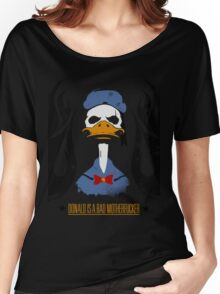Donald Duck Bad Motherfucker Women's Relaxed Fit T-Shirt