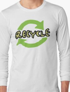 """Earth Day """"RECYCLE"""" Long Sleeve T-Shirt"""
