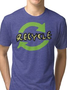 """Earth Day """"RECYCLE"""" Tri-blend T-Shirt"""