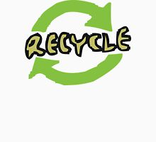 """Earth Day """"RECYCLE"""" Womens Fitted T-Shirt"""