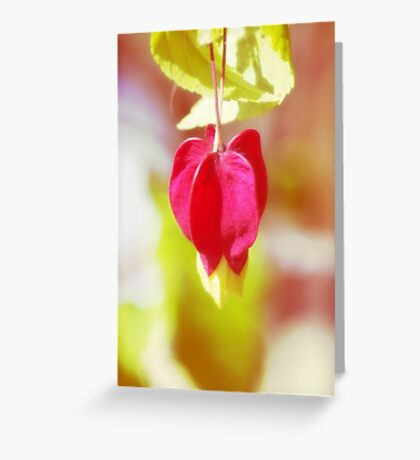 Red Balloon Blossom  VRS2 Greeting Card
