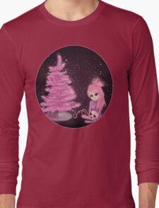 Intercosmic Christmas in Pink Long Sleeve T-Shirt