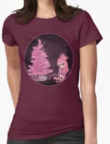 Intercosmic Christmas in Pink Womens Fitted T-Shirt