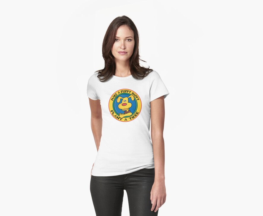 "Earth Day ""Make A Puppy Happy - Plant A Tree"" by HolidayT-Shirts"