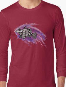Fish & Watercolor Splash Long Sleeve T-Shirt