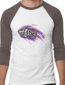 Fish & Watercolor Splash Men's Baseball ¾ T-Shirt