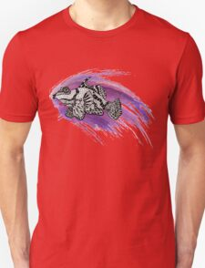Fish & Watercolor Splash Unisex T-Shirt