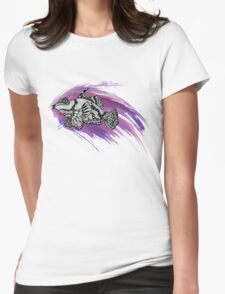 Fish & Watercolor Splash Womens Fitted T-Shirt
