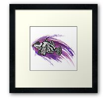 Fish & Watercolor Splash Framed Print