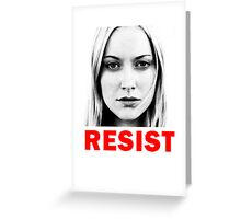 Resist Greeting Card