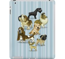 7 dogs / light BG iPad Case/Skin
