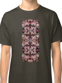 Colorful Pink Daisies Abstract Kaleidoscope Design Classic T-Shirt
