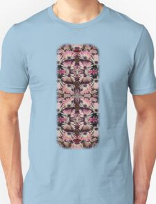 Colorful Pink Daisies Abstract Kaleidoscope Design T-Shirt