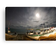 stars at night of the ocean, baja california sur, mexico Canvas Print