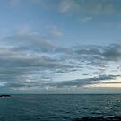 Nubble Lighthouse at dusk by Sylvain Dumas
