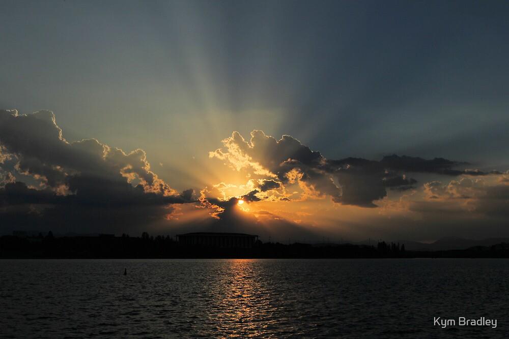 Summer Sunset 2 Canberra Australia  by Kym Bradley