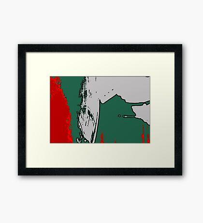Red + Green Framed Print