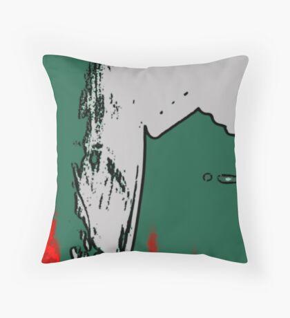 Red + Green Throw Pillow