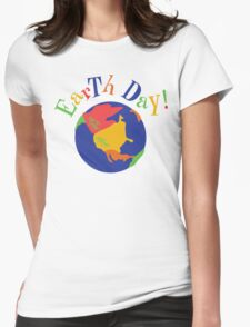 Earth Day Womens Fitted T-Shirt