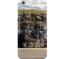 beautiful sunset over the virgin rock with wild tall grass on the wild atlantic way iPhone Case/Skin