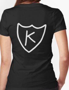 Kurt Cobain - K tattoo, K records (White)  Womens Fitted T-Shirt