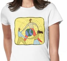 Celebrate Earth Day Womens Fitted T-Shirt