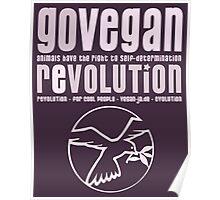 GO VEGAN REVOLUTION Poster